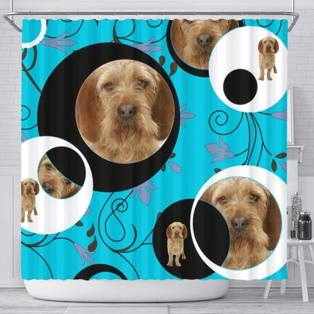 Mamazz Basset Fauve de Bretagne Dog Print Shower Curtain by Mamazz