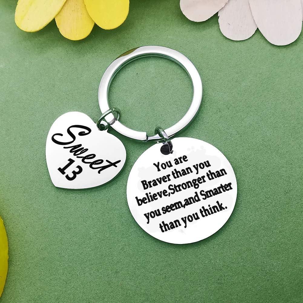 Men Birthday Jewelry Gift Happy Birthday Keychain Inspirational Gifts For Birthday Birthday KeyRing Gift Women Friends
