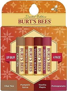product image for Burt's Bees 100% Natural Moisturizing Lip Balm, Fall Variety Pack, Chai Tea, Pumpkin Spice, Vanilla Maple, Pomegranate, 4 Tubes of Lip Balm