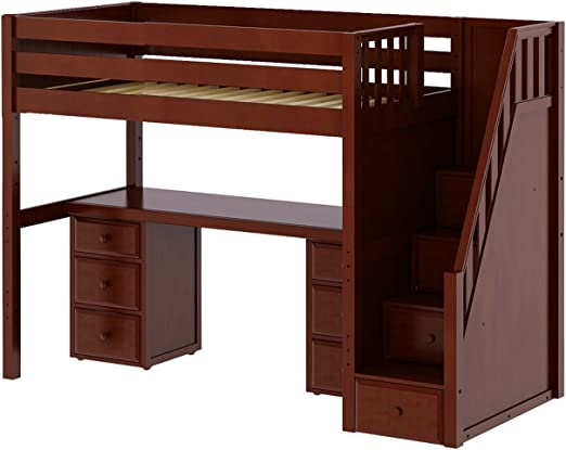 Loft Bed With Desk And Storage Stairs Cheaper Than Retail Price Buy Clothing Accessories And Lifestyle Products For Women Men