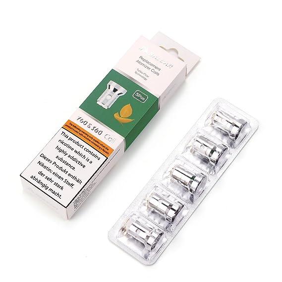 Salcar 5x Replacement Atomizador Coils para Cigarrillos Electrónicos, Fit for V60 & S60, 0.5 Ohm, Sin Nicotina, Sin Tabaco: Amazon.es: Salud y cuidado ...