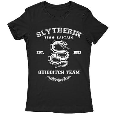 9207 Slytherin Traje de Neopreno para Mujer del Equipo T-Camiseta de Manga Corta de Inspired by EX becarios Harry Potter Hogwarts Quidditch Hufflepuff ...