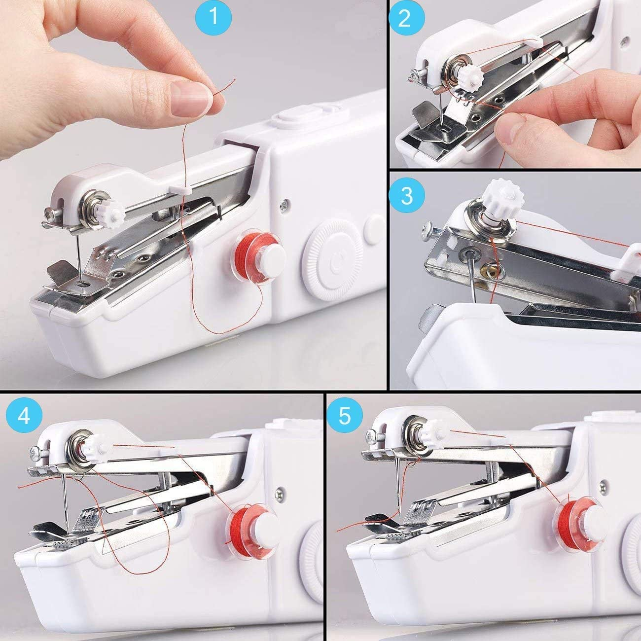 Mini Portable Electric Sewing Machine,Quick Stitch for Home,Travel or Working Yueetc Handheld Sewing Machine Best Valentines Gifts for Girls