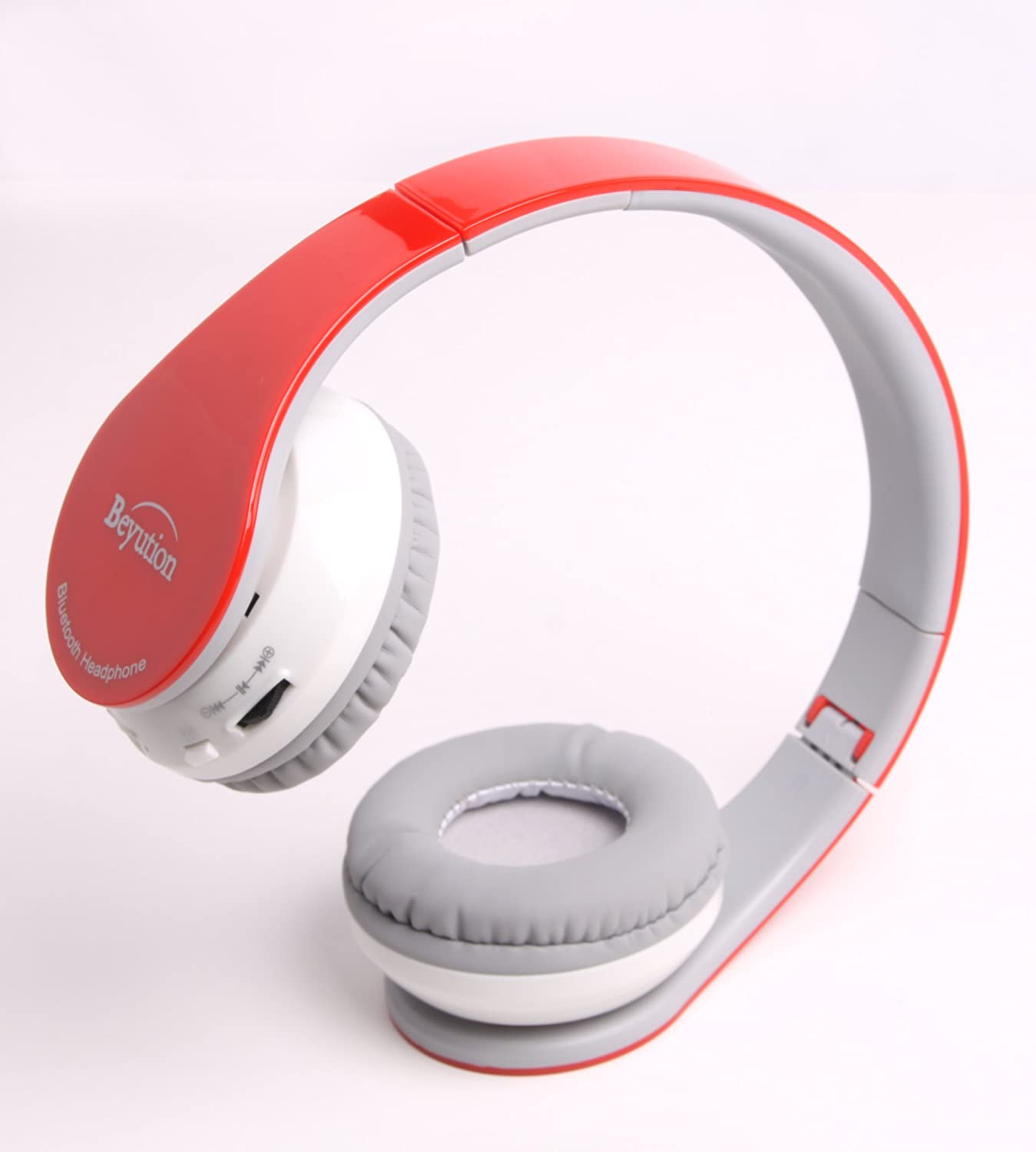 Beyution @Brand Red Color Stereo Wireless Bluetooth Headphones Headset-for All Tablet MID, Smart Cell Phone and All Bluetooth Device