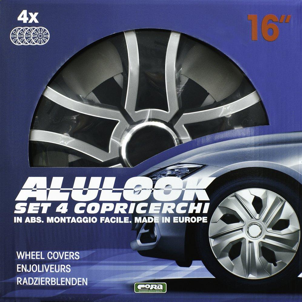 CORA 41746 Set 4 Universali Alulook bis Mix Copricerchi 16 Set di 4