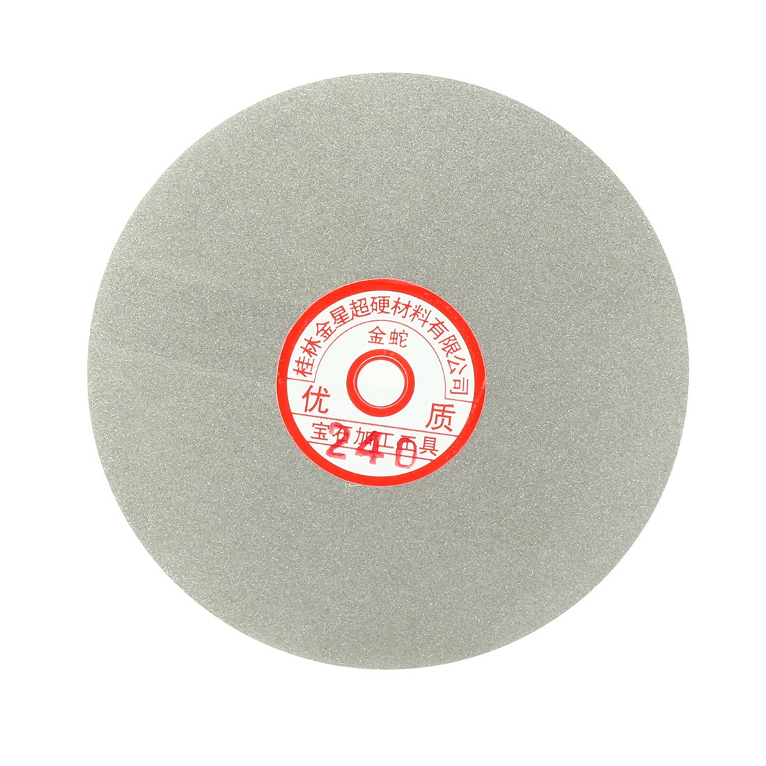 uxcell 6-inch Grit 240 Diamond Coated Flat Lap Wheel Grinding Sanding Polishing Disc a17030900ux1366