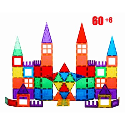 Giromag 66PCS Magnetic Block Building Sets for Kids, Magnetic Toys Stick and Stack for Toddlers Kids Age 3+ Magnetic Building Blocks, Magnetic Stem Toys: Toys & Games