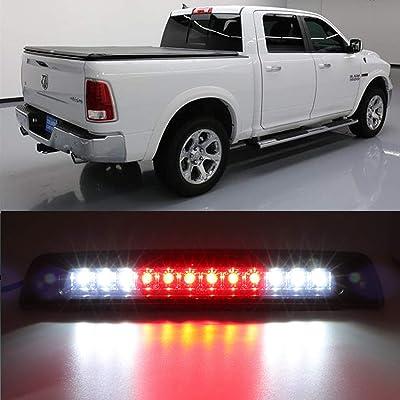 Third Brake Light for 1994-2001 Dodge Ram 1500 2500 3500 Smoke Lens LED High Mount 3rd Third Brake Cab Cargo Stop Tail Rear Light Lamp: Automotive