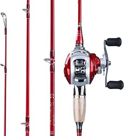 24 Ton Carbon Fiber Spare Spool Line As Gift Sougayilang Fishing Rod and Spinning Reel Combo Portable Telescopic Ultralight Fishing Pole with 13 +1 Corrosion Resistant Ball Bearings Fishing Reel