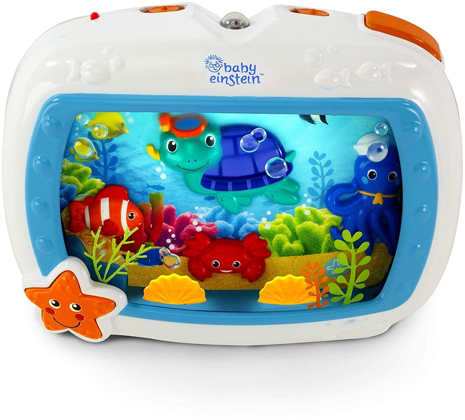 Lights and Melodies Newborns and up Sea Dreams Soother Cot Toy with Remote