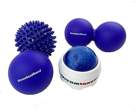 Bolas de masaje, Set de 4, para terapia física, reflexología, Yoga ...
