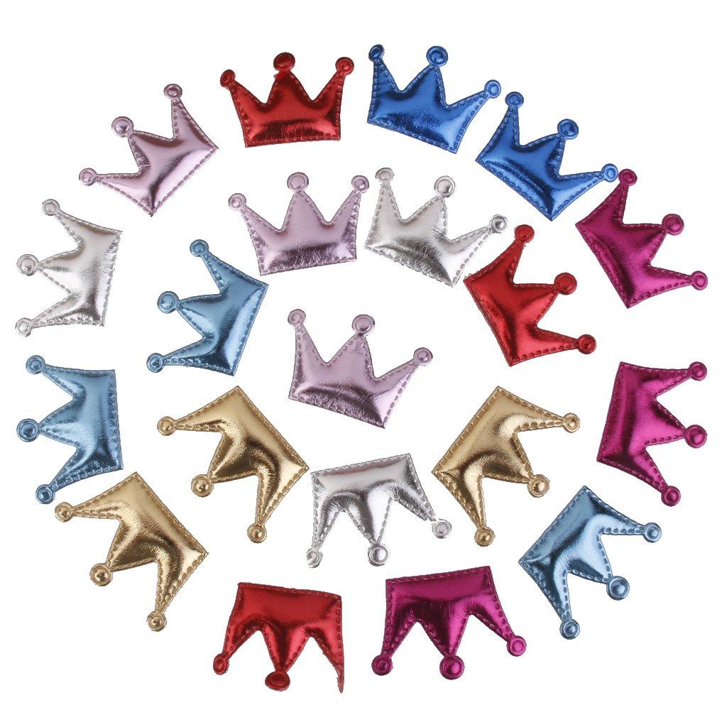 20pcs Corona Pinzas Clips Accesorios de Pelo Decoración Bricolaje DIY Para Bebés Niñas Generic STK0155000715