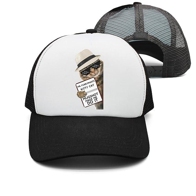 380714f187b YAYAZAN Caps Hats Mens Mr Furrypants Kitty Cat Mugshot Catnip Made Me Do It Mesh  Cool