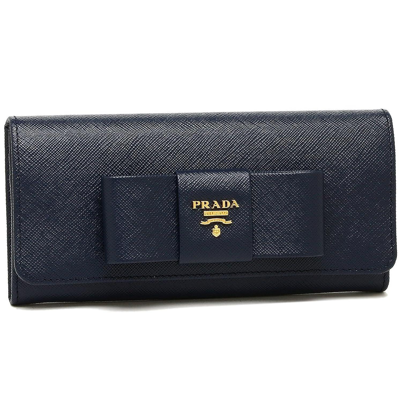 プラダ 財布 PRADA 1MH132 ZTM F0216 SAFFIANO FIOCCO レディース 長財布 無地 BALTICO 紺 [並行輸入品] B077HC3LDW