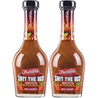 Bunsters Shit The Bed 12/10 Heat Hot Sauce Gift - Chili Pepper Sauce, 8 fl oz - (2 x 8oz Bottles)