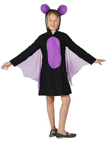 FOXXEO Disfraz de murciélago para Las niñas Disfraz de murciélago ...