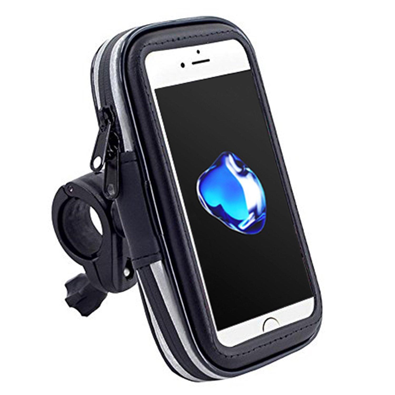 Demarkt Support Téléphone étanche Pluie Portable Vélo Moto Rotatif à 360 Bracelet Taille Réglable Compatible Avec Pour iPhone 6Plus 6sPlus 7Plus Samsung S6 S7 S8 Edge Galaxy Huawei Etc 4.8-5.5 Inches Pouce 1PC