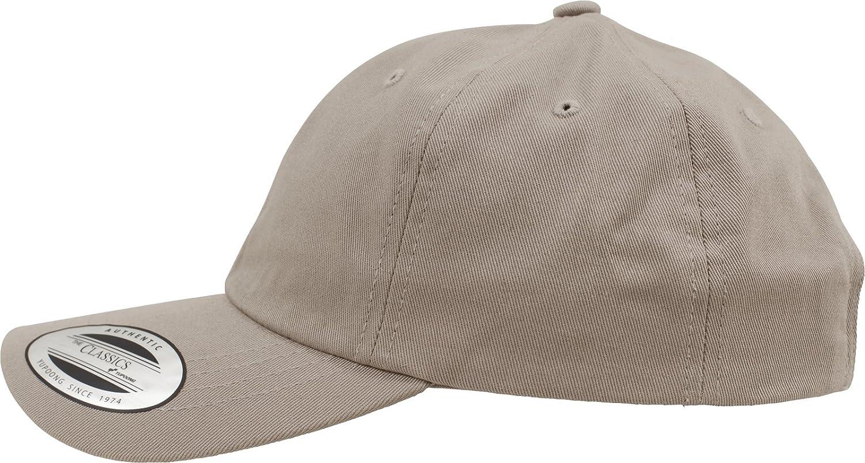 6 Panel Baseball Cap unstructured mit Messingverschluss Yupoong Flexfit Low Profile Cotton Twill Unisex Dad Hat Cap f/ür Damen und Herren