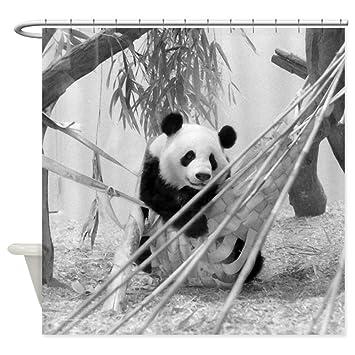 CafePress   Panda (Shower Curtain)   Decorative Fabric Shower Curtain