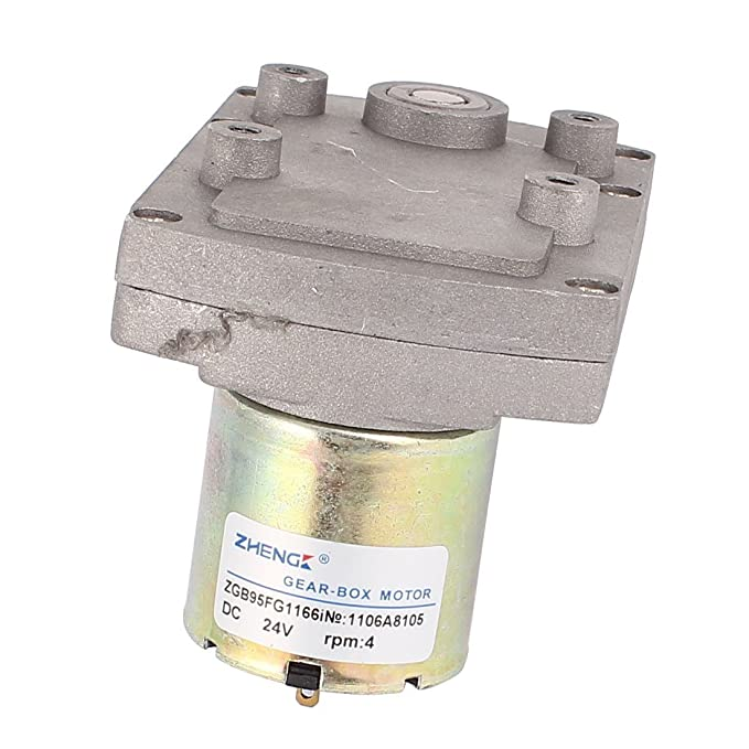 eDealMax DC24V 4RPM alto par eléctrico DC gusano de la caja de engranajes del motor reductor de velocidad - - Amazon.com