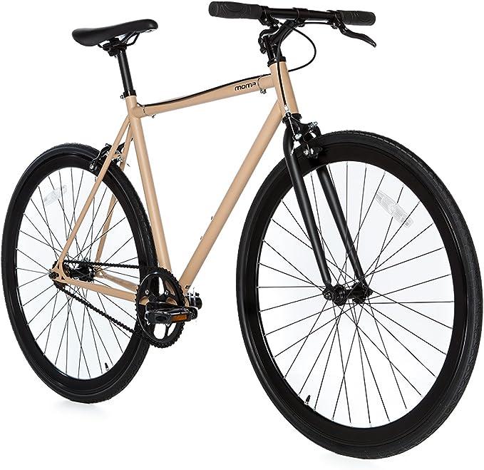 Moma Bikes Bicicleta Fixie Urbana, Fixie BeigeFixed Gear & Single Speed (Varias Tallas): Amazon.es: Hogar