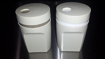 Rubbermaid Salt And Pepper Shaker Set White Fg1a52rdwht