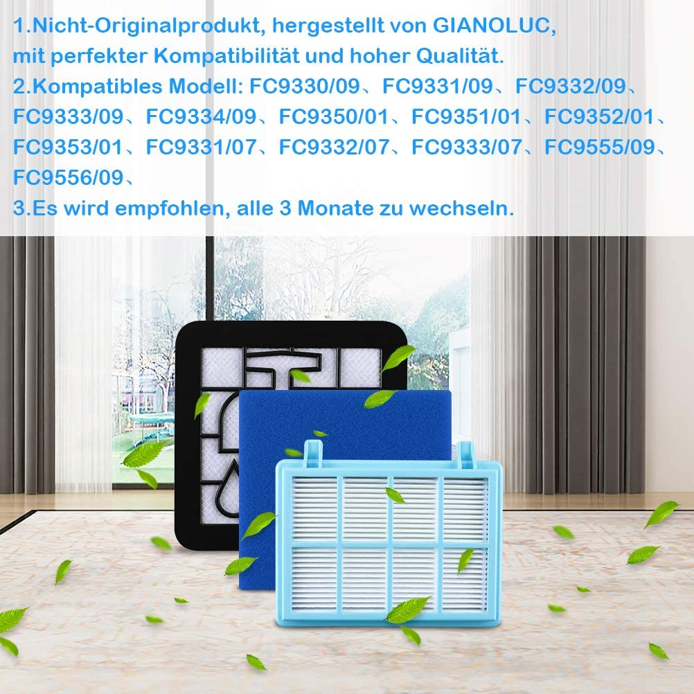 GIANOLUC - Juego de filtros para aspiradora Philips PowerPro ...
