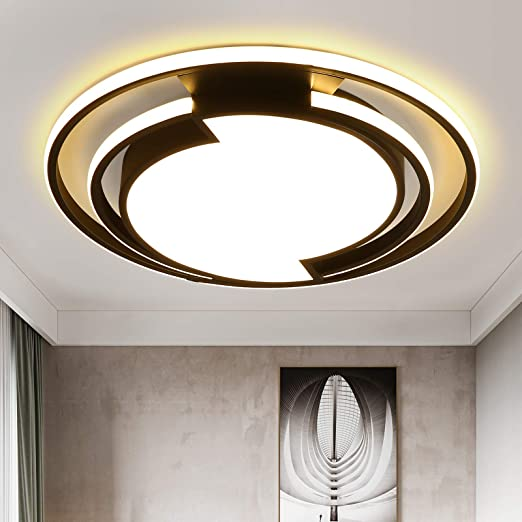 LED Bedroom Ceiling Light15.74 inch 54W 5400LM Guest Room Dining Room Balcony Cloakroom Corridor dimmable Remote Control Three-Color Lighting Fixture