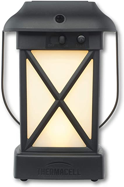 thermacell cambridge mosquito repellent lantern no spray mosquito repellent for patios includes 12 hours of protection deet free scent free no