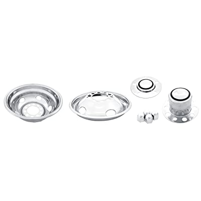 """Kaper II SS-1954-10N Polished Stainless Steel Work Horse P-30 Chassis Truck Wheel Simulator Set for Chevrolet/Gmc (19.5"""" x 6.00"""" 10 Lug Rear 5 Lug Front with 7.25"""" Bolt Circle 5 Hand Hole): Automotive"""