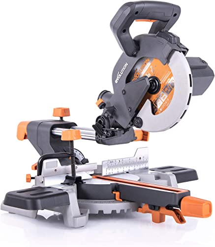 Evolution Power Tools R185SMS 7-1 4 Multi-Material Compound Sliding Miter Saw