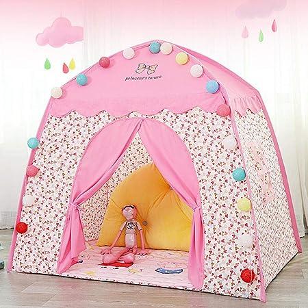 succeedw Castillo De La Princesa Tienda De Campaña para Niños Grandes Casa De Juego Princess Tent Girls Casa De Juegos Grande Kids Castle Play Tienda De Campaña Carpa con (51x39x51in): Amazon.es: Hogar