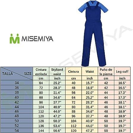 MISEMIYA - Peto con Tirantes Uniformes Laboratorios Mono Uniformes Mono DE Trabajo - Ref.879