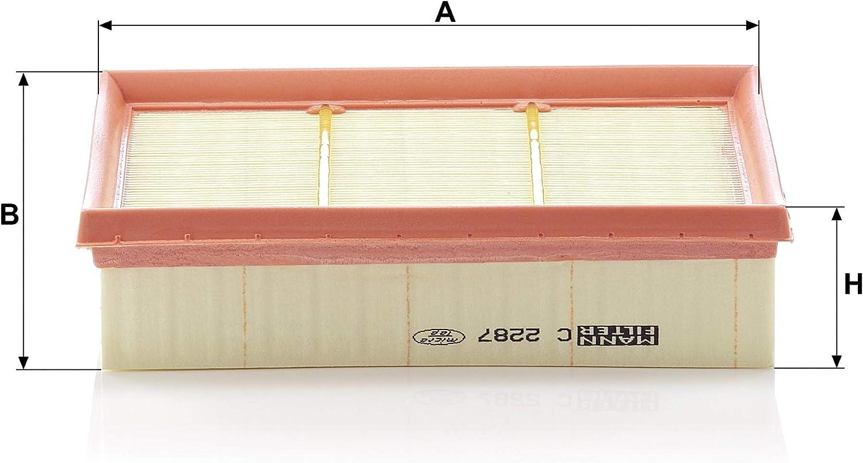 MANN-FILTER C 2287 Original Filtre /à air Pour v/éhicules particuliers