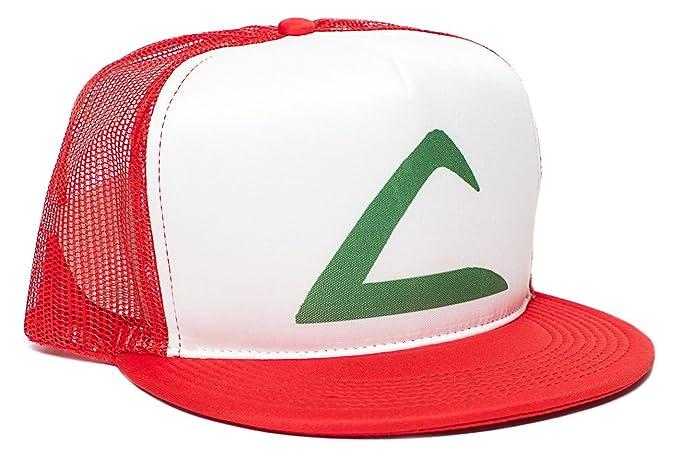 2ba516773ea Amazon.com  Pokemon Ash Ketchum Flat Unisex-Adult Trucker Hat -One ...