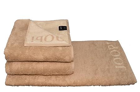 Joop 3x Handtuch Gr 50x100 Fb 30 Sand Serie 1600 Gratis 1x Deko