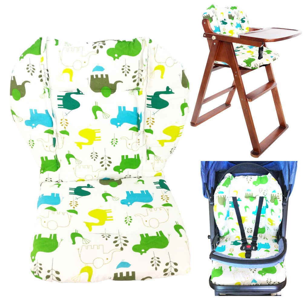 Twoworld Baby Stroller/Car/High Chair Seat Cushion Liner Mat Pad Cover Protector Breathable(Green)