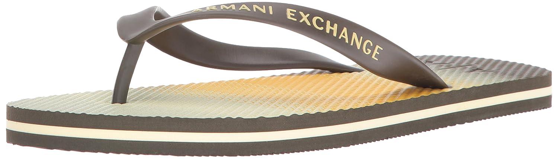 A|X Armani Exchange Men's Printed Flip Flop Ombre Stripe Ochre 42 EU/9 M US 955000-6A500