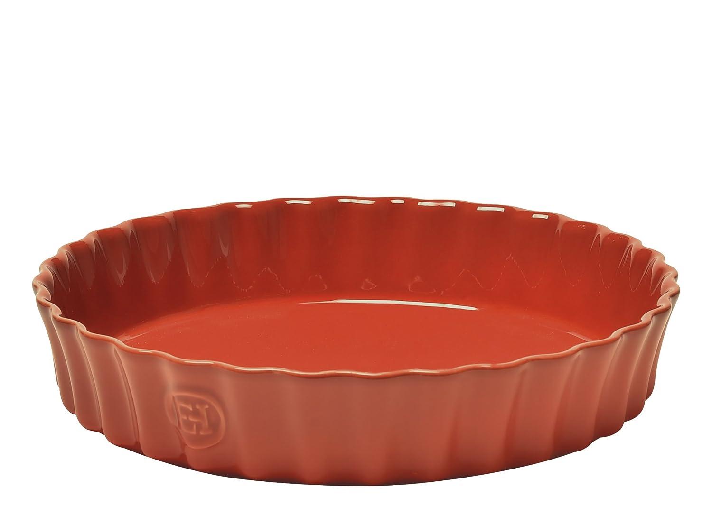 Emile Henry 91326028 Deep Flan Dish 30cm/11.8-Inch 2.5L/2.5qt, Brique EH326028
