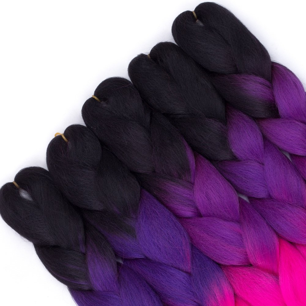 24inch 5pcs Ombre Kanekalon Jumbo Braiding Hair Pieces Crochet Box