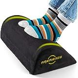 AMERIERGO Foot Rest Under Desk, Foot Stool with Curve Design, Ergonomic Under Desk Footrest Pillow for Home Office, Airplane