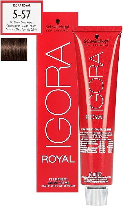 Schwarzkopf Igora Royal 5-57 - Tinte profesional para el cabello (60 ml), color marrón claro y dorado