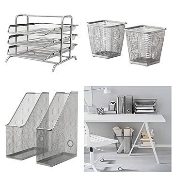 IKEA oficina/casa escritorio – 1 x carta bandeja DOKUMENT (plata), 2
