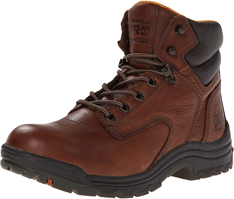 Titan Soft Toe 6-in Work Boots Coffee