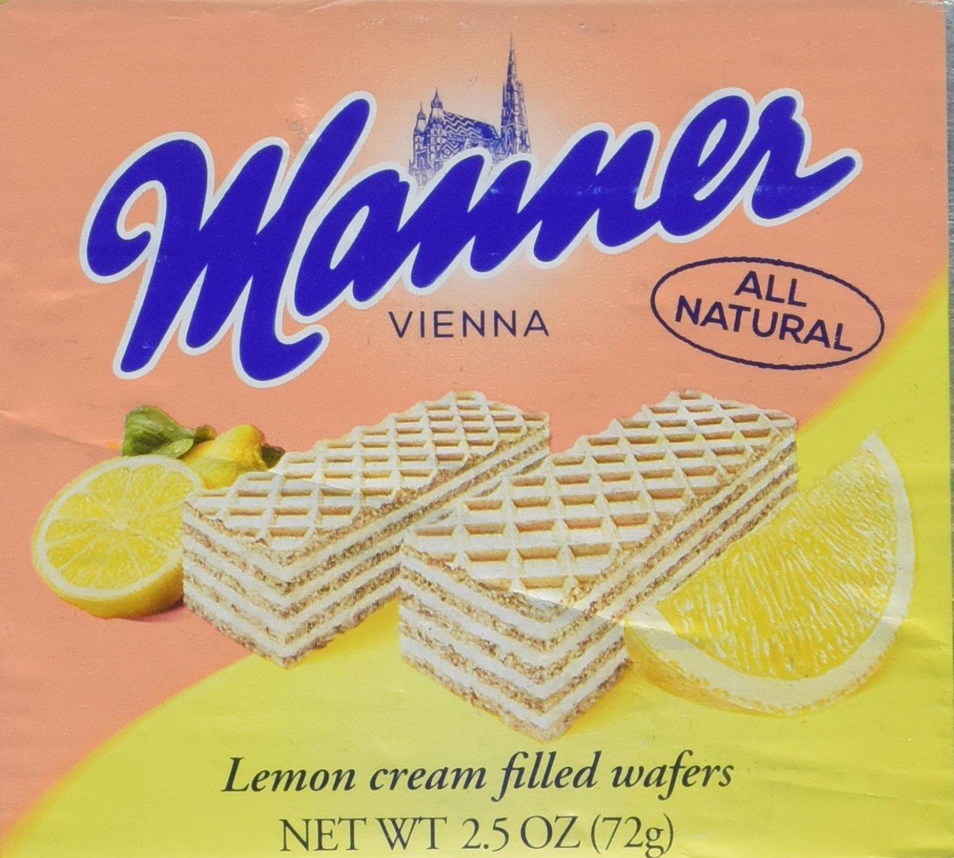Manner Lemon Cream Wafers, 2.5 oz
