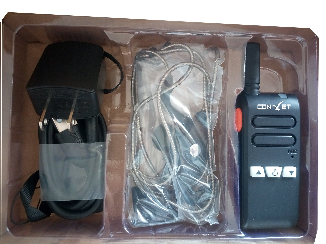 ContalkeTech CTET-Q70 high end mini size walkie talkie pmr gmrs two way radio 16 channels up to 4 miles rechargeable handheld walkie talkie with earpiece(1 Pair) by ContalkeTech (Image #4)