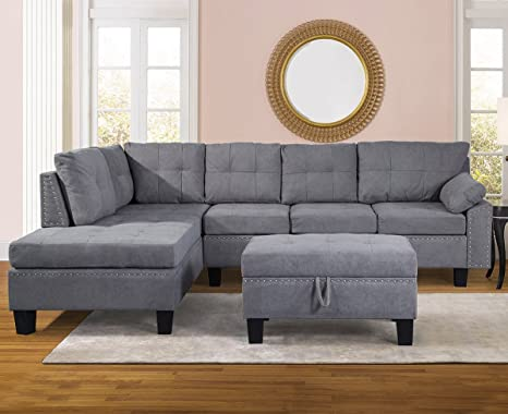 Swell Amazon Com Sectional Sofa Sets For Living Room With Chaise Inzonedesignstudio Interior Chair Design Inzonedesignstudiocom