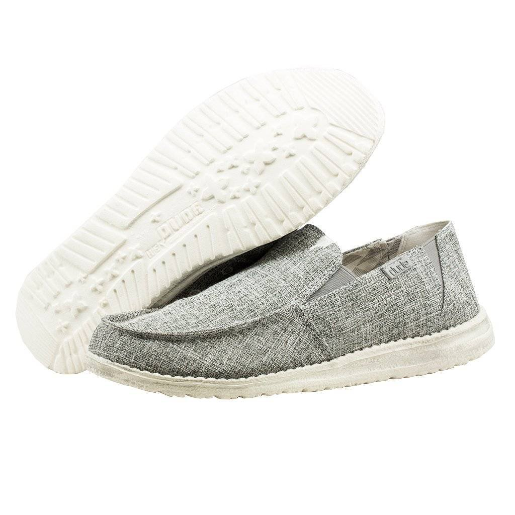 Hey Dude Men's Chan Linen Loafers, Grey, 11 US M/EU 44