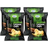 Jans Root Chips (Jalapeno Cassava Chips, 4 x 3 oz)