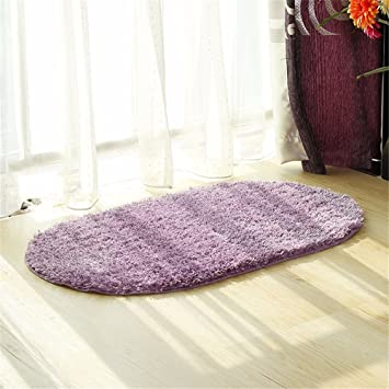 Badezimmer zu Hause nicht - Rutschmatten Volltonfarbe oval Teppich ...